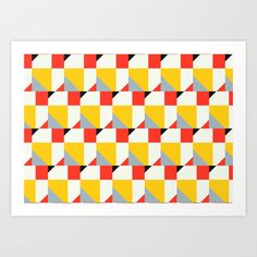 Crispijn Pattern Art Print by Stoflab
