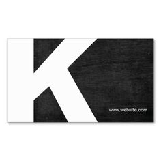 Bold Initial Monogram Black Wood Business Card. This great business card design is available for customization. All text style, colors, sizes can be modified to fit your needs. Just click the image to learn more!