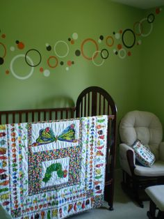 Very hungry caterpillar nursery wall mural very hungry for Eric carle mural