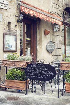 Italy, Montepulciano - I could sit here and enjoy an Espresso or glass of fine Italian wine! ;)