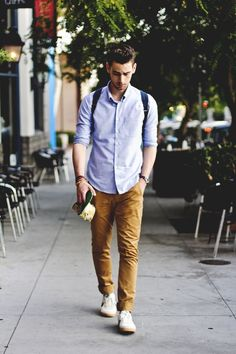 For your school day stylish men, men casual, casual shirt, smart casual, fa Light Blue Dress Shirt, Light Blue Dresses, Smart Casual, Men Casual, Moda Blog, Look Man, La Mode Masculine, Herren Outfit, Back To School Outfits