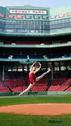 I really hate 1)THE BOSTON RED SOX, 2) FENWAY PARK, 3)THE CITY OF BOSTON IN GENERAL, but I couldn't resist pinning. Baseball and ballet. My two loves.