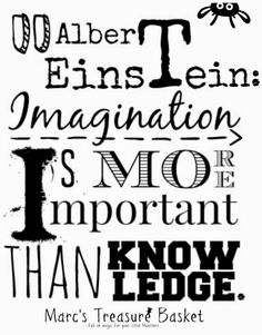 Fun Facts & Quotes About Kids - Albert Einstein: Imagination is more important that knowledge