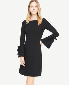 Taylor Women 3//4 Sleeve Lace-Bodice Textured Knit Dress Black