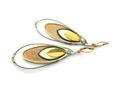 Boucles d'oreilles en cuir et laiton // ZAZI