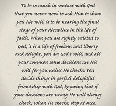 Oswald Chambers on God's Will