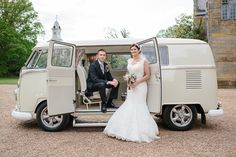 Campervan wedding car by Nicola Milns Photography, find out more http://www.frenchweddingstyle.com/win-wedding-photography-france/
