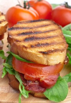 Bacon, Lettuce   Tomato Sandwiches: A refreshing summer lunch idea the whole family will enjoy.