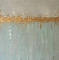 Feuille dor peinture abstraite High Gloss en résine