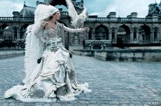 Maggie Rizer in Jean Paul Gaultier Paris Couture Bride. Pinned from @Vogue Magazine