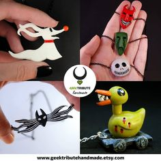 Some of my creations from The Nightmare before Christmas You can get anyone of them in the link of my bio . . . . #geektributehandmade #polymerclay #polymer_clay #arcillapolimerica #fimo #clay #polymer #handmade #accessories #geeky #polymerclayartist #geekycrafts #polymerclaycreations #clayart #polymerclaycharms #claycreations #claycharms #handmadeaccessories #instaart #artistsoninstagram #etsy #etsyshop #polymerclayart #thenightmarebeforechristmas #timburton #disney #disneyjewelry…