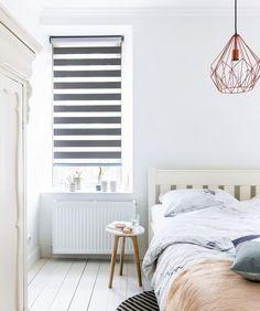 Duo rolgordijnen van bece, ook met verduisterende stof voor de slaapkamer. www.tencatewonenenslapen.nl