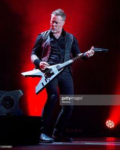 James Hetfield of Metallica performs at Coliseo de Puerto Rico on October 26, 2016 in Hato Rey, Puerto Rico.