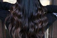 Balayage Hair Dark Black, Gray Balayage, Balayage Hair Ash, Balayage Straight, Hair Color Dark, Dark Hair, Brown Hair, Blonde Pixie, Lily Aldridge