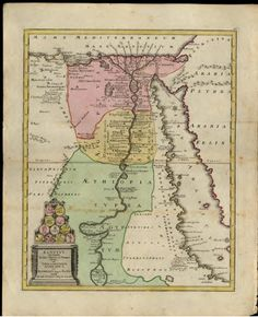 Antique map of Egypt, 1765