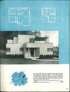 More Art Deco and Moderne House Plans Including the House of ...