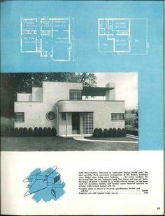 Modern art deco house plans - House and home design Casa Art Deco, Art Deco Home, Deco House, Estilo Art Deco, Vintage House Plans, Building A Tiny House, Streamline Moderne, Wallpaper Aesthetic, Art Deco Buildings