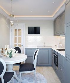 Kitchen ideas white classic interior design 29 Ideas for 2019 Home Decor Kitchen, Kitchen Interior, New Kitchen, Kitchen White, Kitchen Ideas, Kitchen Modern, Dirty Kitchen, Wooden Kitchen, Design Kitchen