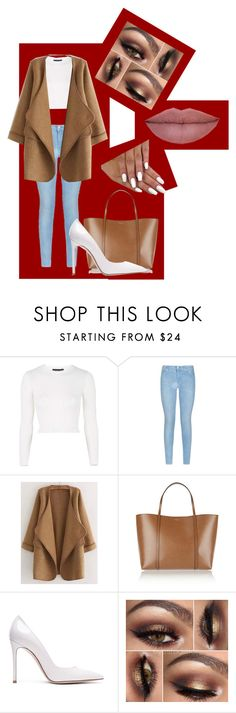 """""""January 2016 pick"""" by kay2von3b ❤ liked on Polyvore featuring Topshop, 7 For All Mankind, WithChic, Dolce&Gabbana and Gianvito Rossi"""