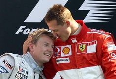 Formula One- Kimi Raikkonen & Michael Schumacher Michael Schumacher, Aryton Senna, Gp F1, Gilles Villeneuve, Formula 1 Car, Ferrari F1, F1 Drivers, F1 Racing, Thing 1