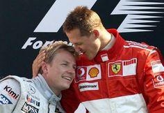Kimi Raikkonen & Michael Schumacher