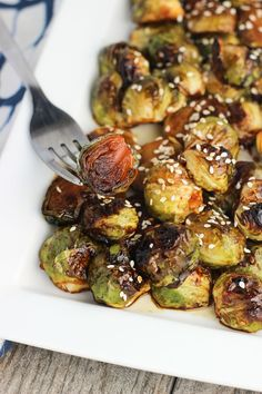 A flavorful, five-ingredient glaze coats these honey sesame roasted brussels sprouts. Browned to perfection, this easy recipe is a great healthy side dish.