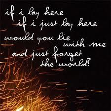 Chasing Cars. I miss music like this... This is probably my favorite song of all time!