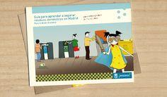 Guía de separación de residuos para niños. #illustration #design #kids #brochure