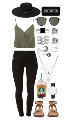 """""""Boardwalk Fashion"""" by razziieyy ❤ liked on Polyvore featuring Kendall & Kylie, Kenneth Cole, Miss Selfridge, Ray-Ban, Hudson, BERRICLE, Daniel Wellington, FOSSIL, Stella & Dot and Zara"""