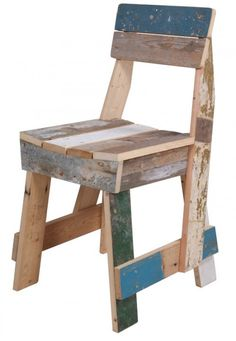chair made from reclaimed wood