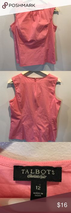 Talbots's s 12 light pink/coral basic Talbots's size 12 top. Beautiful styling, gently worn, lots of life left. Gorgeous pink/coral color perfect for spring and summer! Talbots Tops Blouses