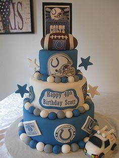 37 Amazing Indianapolis Colts Cakes images   Indianapolis Colts ...