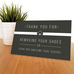 """Our most popular """"Please Remove your Shoes"""" sign. www.atrestore.com"""