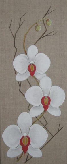 peinture acrylique sur toile- fleurs - Recherche Google