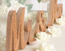 Rose Gold Glitter-Mr and Mrs Letters-Wedding Decorations-$49.99