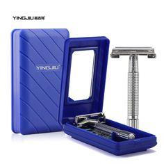 YingJiLi 2017 Durable men razor sharp old double-sided razor Screw manual razor manual razors Men care double-edge blade suits #Affiliate