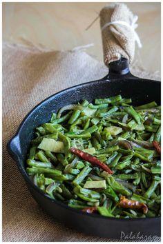 Achinga payar pattichu ularthiyathu / Long beans stir Fry (Kerala style)