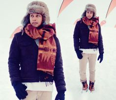 menswear, mensstyle, mensfashion, OOTD, Winter look, casual, Sears Blanket Scarf, H&M Sweater, H&M Pants, Aldo Snow Boots