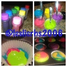 Colorful cupcakes  diy
