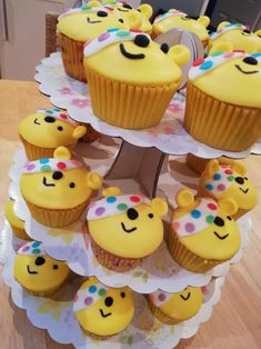 Pudsey cupcakes , children in need 2018 Children In Need Cupcakes, Mini Cupcakes, Fundraising, Cake Decorating, Baking, Desserts, Recipes, Food, Tailgate Desserts