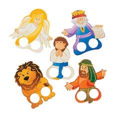 Daniel & the Lions' Den Finger Puppets, Hand & Finger Puppets, Novelty Toys, Toys, Games & Novelties - Oriental Trading