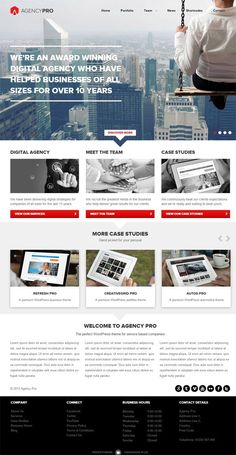 Agency Pro WordPress Theme - Frogs Themes Premium Corporate WP Theme.. http://www.serverpoint.com/