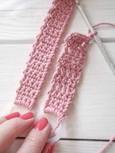 virkattututtinauhaohje Knitting, Crochet, Tricot, Cast On Knitting, Chrochet, Stricken, Crocheting, Knits, Knits