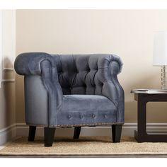 Monica Pedersen 'Clara' Blue Armchair by Abbyson Living   Overstock.com Shopping - Great Deals on Abbyson Living Chairs
