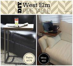 DIY pipe table
