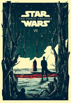 Star Wars: The Force Awakens by Derek Payne - Star Wars Poster - Ideas of Star Wars Poster - - Star Wars: The Force Awakens by Derek Payne Star Wars Poster, Film Star Wars, Star Wars Episoden, Star Wars Gifts, Chat Origami, Estilo Geek, Star Wars Painting, Star Wars Wallpaper, Episode Vii