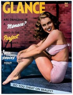 Glance - May 1950, USA Magazine. Front cover photograph of a young Marilyn Monroe by Richard C. Miller, late 1940's <3