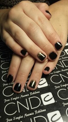 CND-SHELLAC black pool and gold