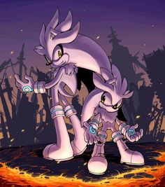 Modern Silver and Classic Silver by Sonic-Speed-Hedgehog on DeviantArt