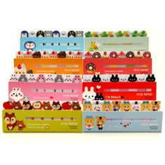 Kawaii Cute Bookmark Marker Memo pad Flags Index Tab sticky notes Label Paper Stickers Notepad stationery papeleria Kawaii, Post It Pad, Note Memo, Korean Stationery, Cute Posts, Page Marker, Messages, Office And School Supplies, Stickers